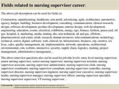 top 10 nursing supervisor questions and answers