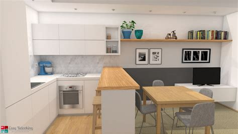 arredamento soggiorno con cucina a vista progettazione di un soggiorno moderno con cucina a vista