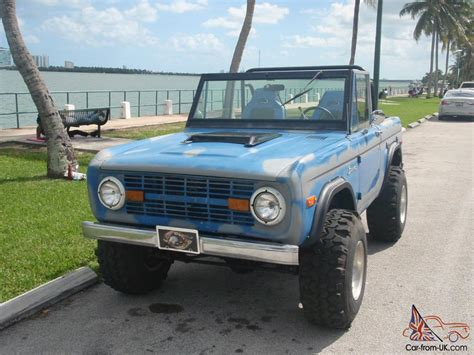 ford bronco jeep 1973 ford bronco original paint offroad vintage
