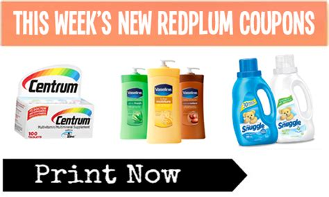 printable grocery coupons red plum redplum printable coupons save on centrum vaseline
