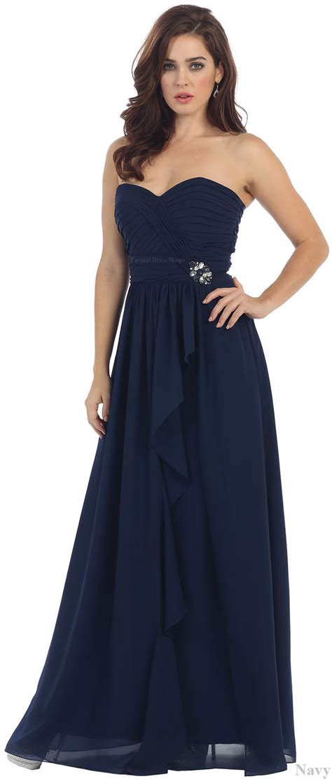 cute simple bridesmaids evening gown formal prom dinner