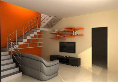 sofa under stairs utilizing space under stairs with grey sofa for