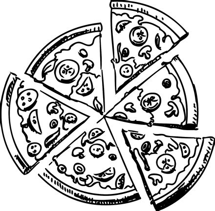 pizza clipart black and white png pizza black and white transparent pizza black and