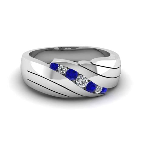 15 best collection of s blue sapphire wedding bands