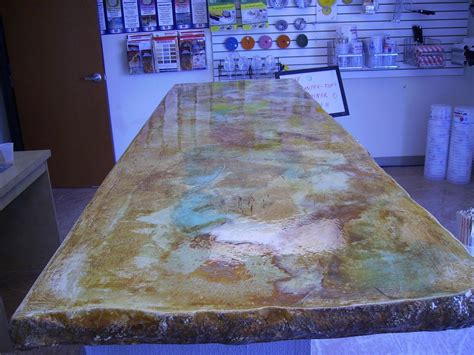 Acid Stain Concrete Countertop by Acid Stain Concrete Countertop Backyard Ideas