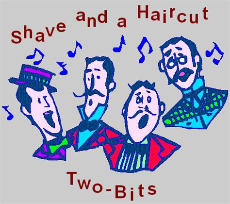 shave and a haircut 2 bits blue o connell s musical adventures shave a haircut