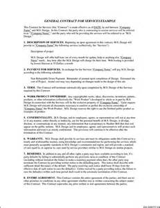 general service contract template agreement templates free word general free general