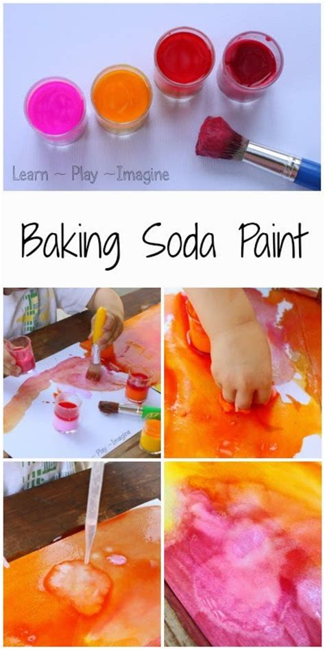 erupting baking soda paint recipe learn play imagine