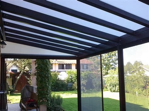 tettoia in policarbonato tettoie in alluminio e policarbonato compatto trasparente