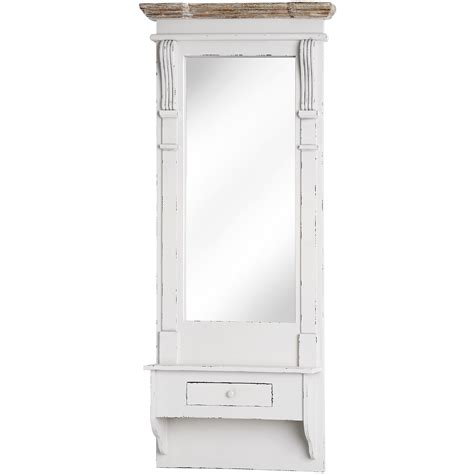 Length Mirror With Drawer by Lyon Range Length Mirror With Shelf And Drawer