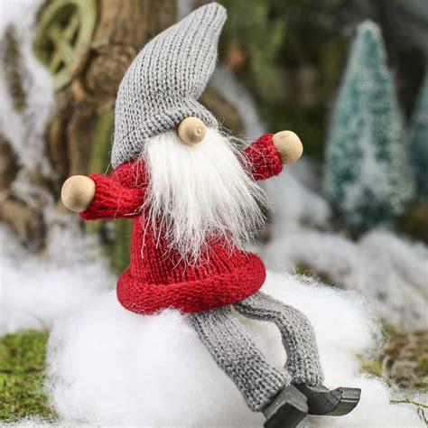 christmas tomte gnome shelf sitter fairy garden