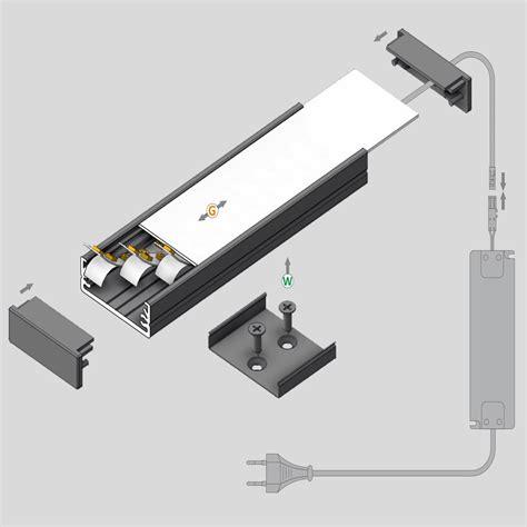 vendita illuminazione led profilo led da sottopensile in alluminio vendita