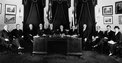 Black Cabinet Fdr by President Roosevelt And His Cabinet Franklin D