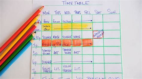 study times tables how to make a study timetable