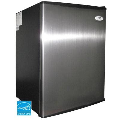 spt 2 5 cu ft mini refrigerator in stainless rf 250ss