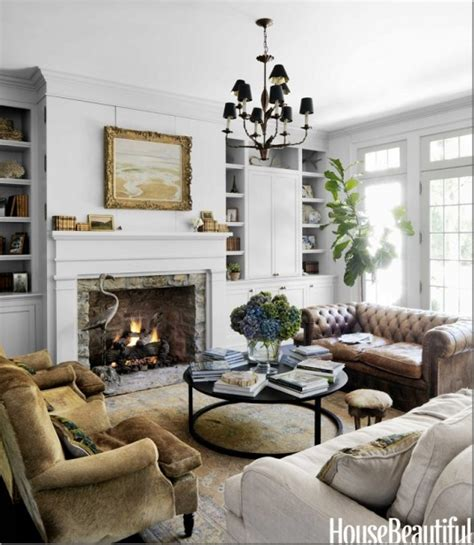 Living Room Ideas With Chesterfield Sofa Decorating Your Mantle And Fireplace Surround Killam The True Colour Expert