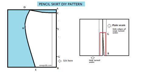 draft an easy pencil skirt diy pattern sew guide