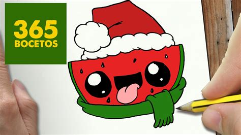 imagenes de la navidad kawaii como dibujar sandia para navidad paso a paso dibujos
