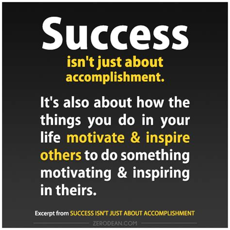 success isn t just about accomplishment zerosophy