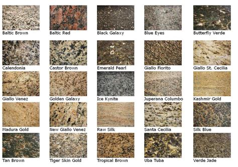 granite colors for bathroom countertops image gallery granite names