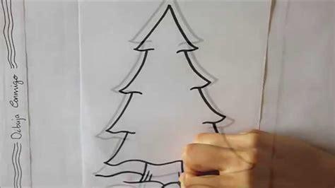 como dibujar arbol de navidad c 243 mo dibujar un 193 rbol de navidad dibuja conmigo dibujos de