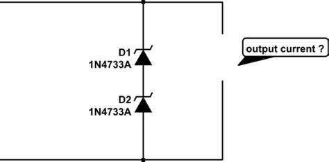 how to calculate zener series resistor what will happen at output current when two zener diode is in series electronics help