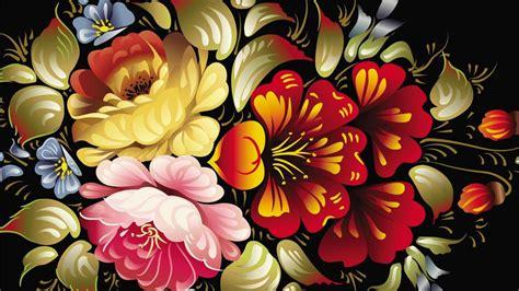 abstract art desktop wallpaper  colorful flower