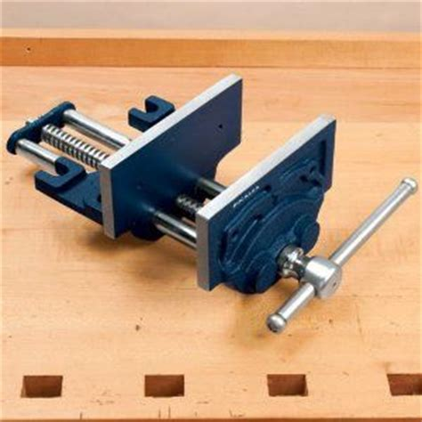 bench screw vise workbench leg vise or twin screw on front of bench by