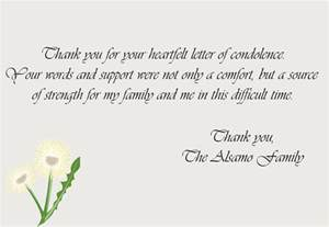 sympathy thank you notes thank you note exles and tips