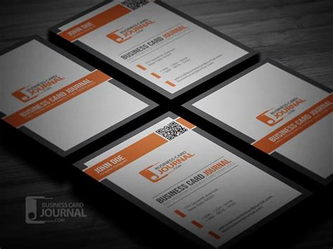 business card with qr code template 55 free creative business card templates designmaz