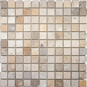 ms international 1 in x 1 in mixed travertine mosaic
