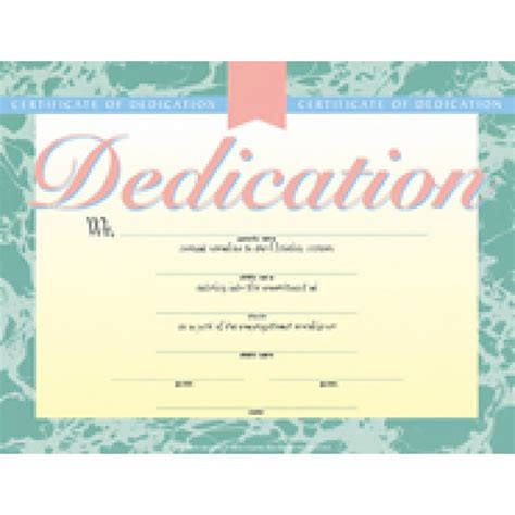 dedication certificate template baby dedication certificate green border