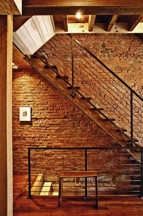 exposed brick wall lighting glamorous basement finishing convention philadelphia