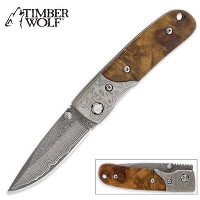 timber wolf knives timber wolf custom damascus pocket knife tw209