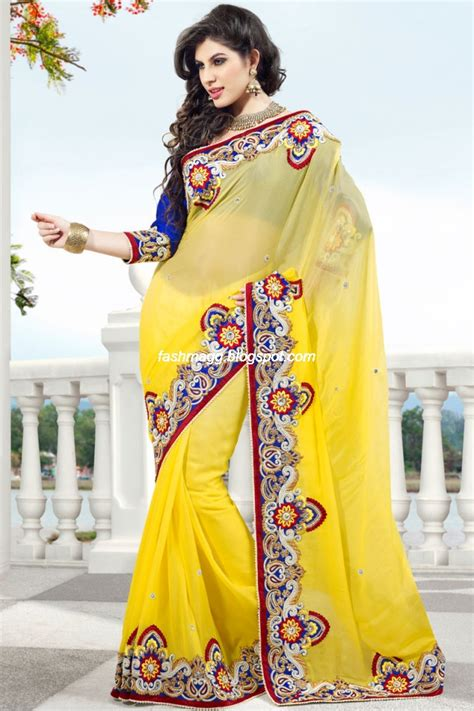 design dress from saree indian sarees for wedding bridal wear collection 2013