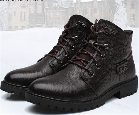 waterproof comfortable boots 2014 genuine leather warm men boots comfortable waterproof