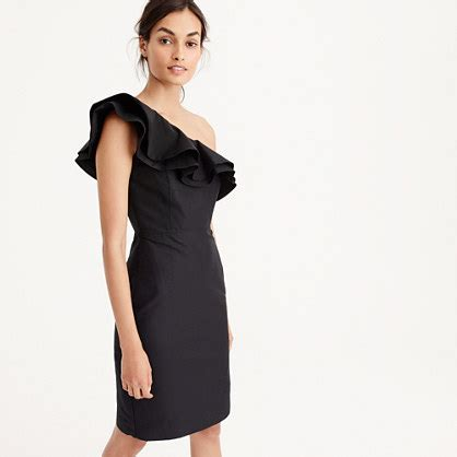 Dress Of The Day J Crew Black Ruffle Shirt Dress by Ruffle Sheath Dresses On Trend For Fall Wedding Guests