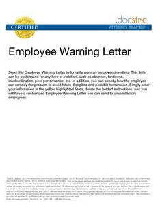 Explanation Letter To Employer For Misconduct Sle Employee Warning Letter Lateness