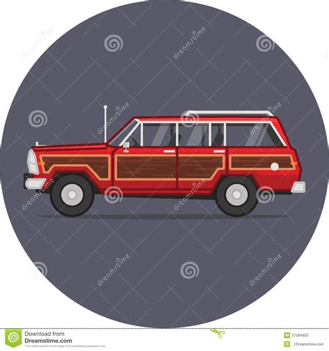 jeep illustration jeep grand wagoneer illustration stock illustration