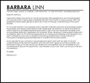 Insurance Resume Cover Letter claims specialist cover letter sample cover letters and resume