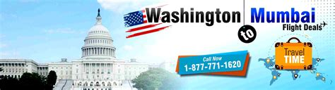 book washington to mumbai flights with lowest airfare deals