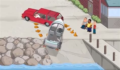 cartoon backing up boat video family guy hilariously trolls boat launch