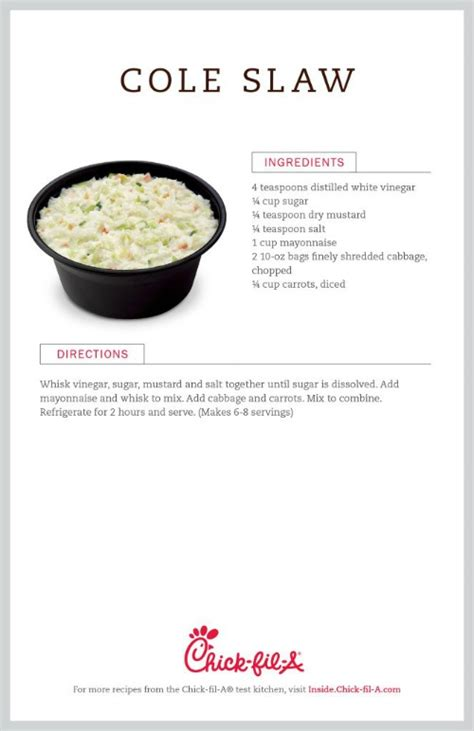 printable coleslaw recipes the chick fil a cole slaw rumors simply sherryl