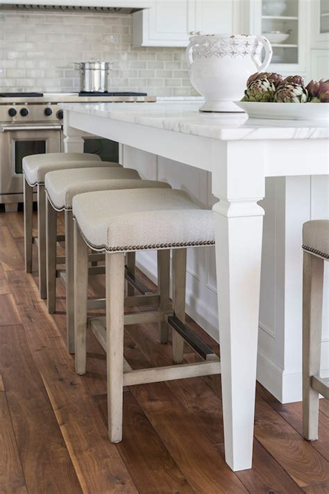 Kitchen Island Overhang For Stools by Nailhead Barstools Transitional Kitchen Benjamin