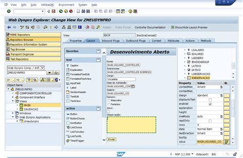 layout web dynpro abap web dynpro ui elements sap abap desenvolvimento