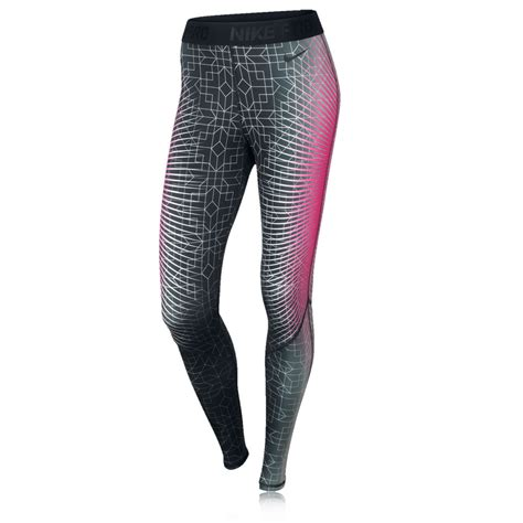 nike pattern running tights nike pro hyperwarm ii women s printed running tights picture 1