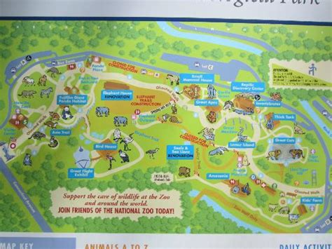 national zoo map zoo map picture of national zoological park washington dc tripadvisor