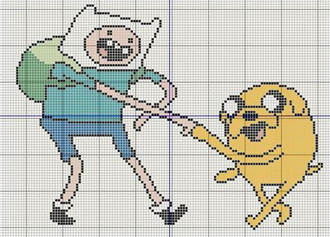 pattern hora html buzy bobbins adventure time with finn and jake cross