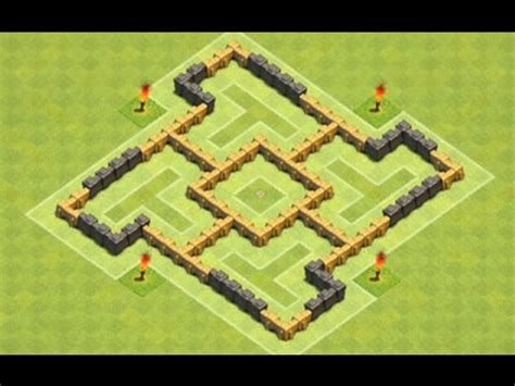 layout hybrid coc th5 clash of clans th5 hybrid quot vane quot base youtube