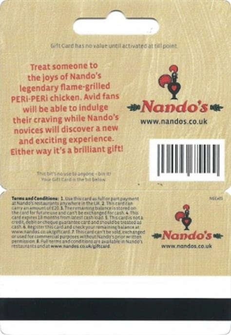 Nandos Gift Card - nando s gift cards voucherline